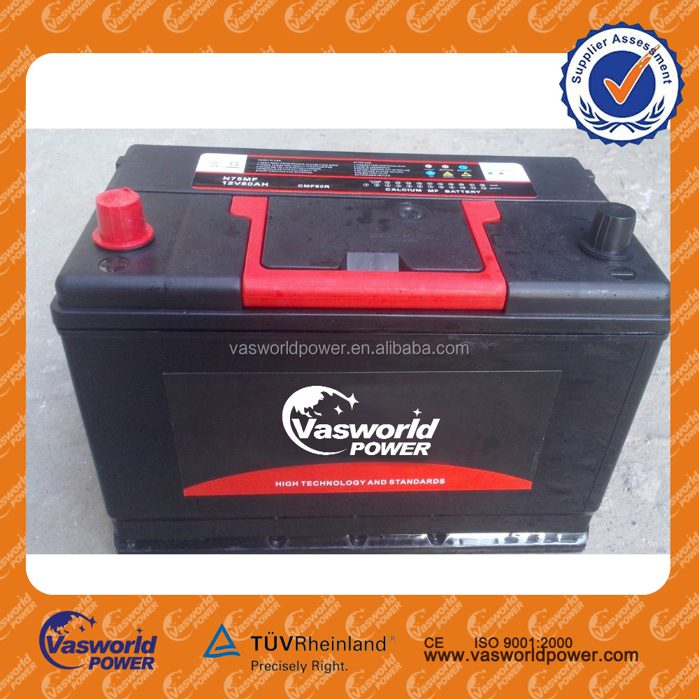 factory produce hot sale high performance high quality automotive battery 12v 80ah rocket car battery high quality truck battery
