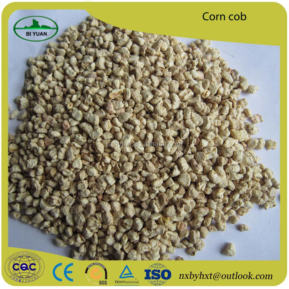 Hot sale yellow corn cob soft abrasive blasting grits