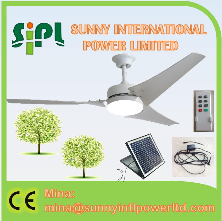 CE decorative ceiling fan with led light and remote control solar vent kits Solar panel cooling fan