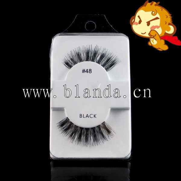synthetic hair flare eyelash extension with /without knot