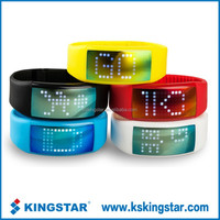 LEd light screen smart silicon wristband bracelet pedometer calorie counter