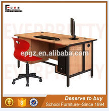 Popular School Furniture Melamine Table Top Teacher Desk with Hanging Drawers