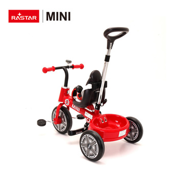 MINI COOPER 3 colors ride on bike for kids Rastar tricycle with sunshade made in china