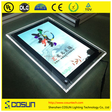 Customized hanging LED Crystal Light Box, LED Light Pockets for Real Estate, LED Light Box/Pocket For Window Display