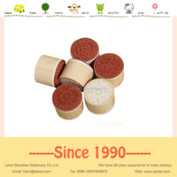 Round wooden handle embossing stamp rubber + EVA foam for paper card scrapbooking