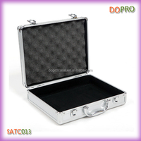 Silver ABS material small aluminum tool storage case with locks