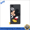 cute mouse cartoon charactor silicone phone cases for iphone 4s