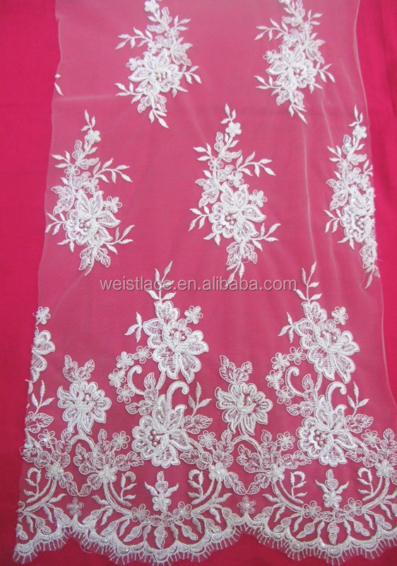 2015 nigeria vintage design guipure french lace fabric african cord lace water solution bead & cords lace for wedding