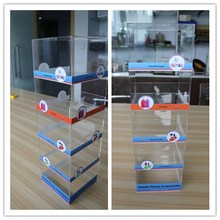 China supplier wholesale counter cellular accessories display rack acrylic display mobile phone accessory for iphone 6