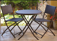 Hot Selling Rattan outdoor furniture wicker dining set cane furniture