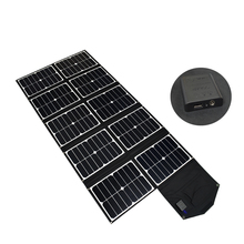Portable foldable solar charger 5V USB and DC18V output RV, boat camping solar battery charger