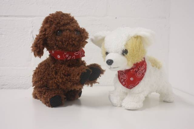 2016 Battery operated musical dog plush toy sound toy