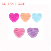 Custom Logo 2017 New Heart Shape Silicone Makeup Brush Cleaner
