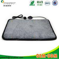electric heated flocking natural rubber floor mat