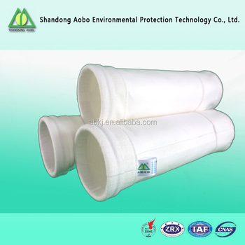 AOBOterylene/polyester needle felt cement dust collector filter bag for dust filter