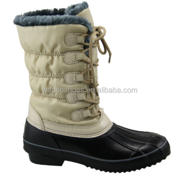 ladies beige hi-cut thermo boots fur boots canadian style duck boots 2016