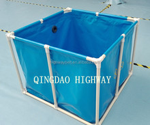 Rectangular fish tank or round fish tanks for fish shop and restaurants