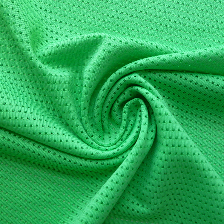 Wicking mesh style 95% polyester 5% spandex jersey knit fabric for sports wear