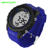 SANDA 369 luxury Military Sport Watch Men Relogio Masculino Casual Chronograph Rubber Watch Strap Waterproof LED Digital Watch