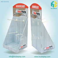 Electronic Products retail mobile cell phone accessories shop cardboard counter display stand with hook