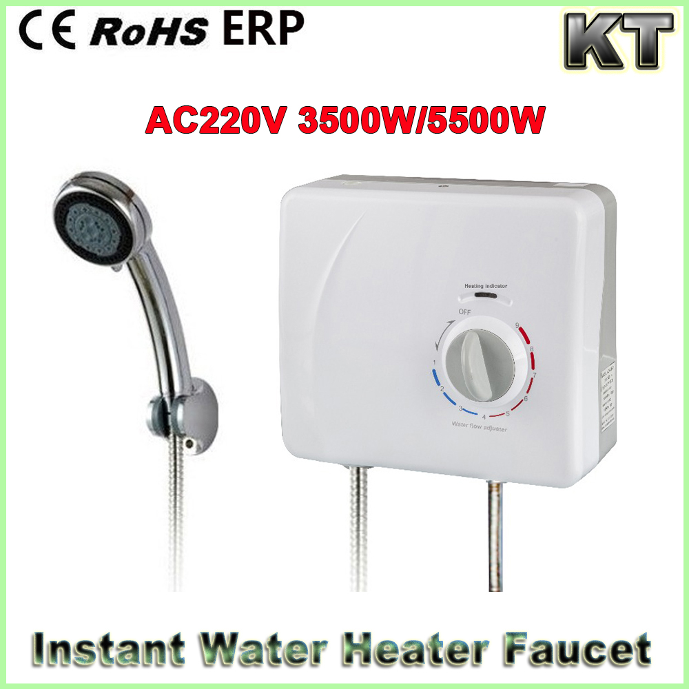 3500w 5500w High Flow Bathroom Instant Kitchen Electric Geyser Water Heater for Shower