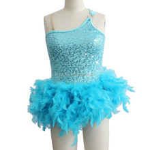 2013Hot sale -feather dance wear-girls' dance costume-children and adults' latin costume