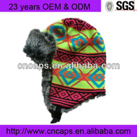 Walmart Funny Knitted Winter Earflap Hats With Earflaps Fur