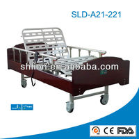 Cheap 2 Function Full Electric Wooden Automatic Hospital Nursing Care Bed