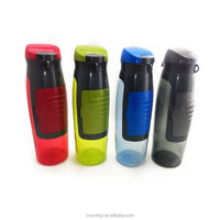 Customize BPA free sports shaker bottle black plastic drink water bottle