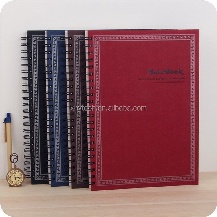a4 a5 spiral pp plastic cover notebooks with tab divider