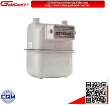 Mechanical diaphragm natural gas meter with steel case