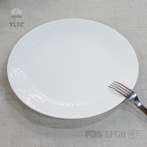 Wholesale Bone China daily used white porcelain plate set dinnerware