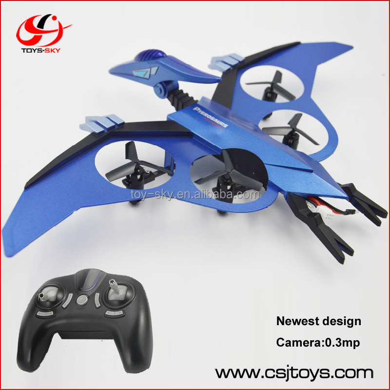 Newest Pterosaur Flying toy 2.4G 4-Axis mini remote control drones and robotics with spy camera