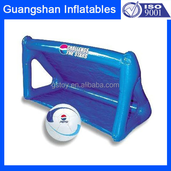 blue giant outdoor soccer goal inflatable football waterpolo goal