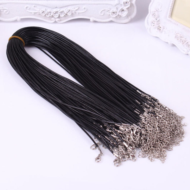 Korea wax snake rope string necklace cord with lobster clasp