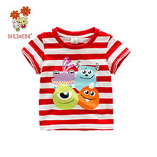 New design korean fashion kids pullover cotton pattern baby boys t shirts