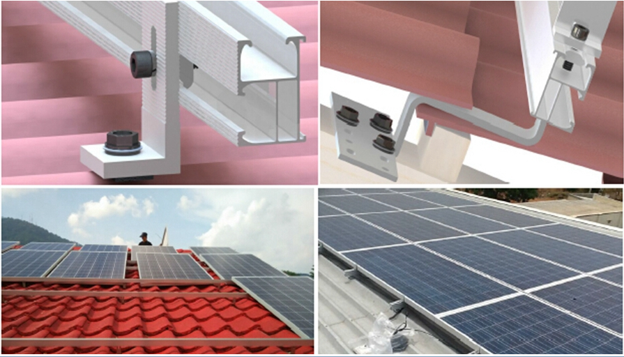 soalr panel rack roof mounting