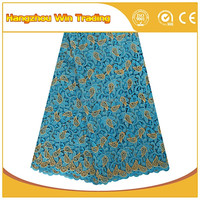 Alibaba Wholesale Softextile Embroidery Indian Fancy Lace Dress Fabric for Party