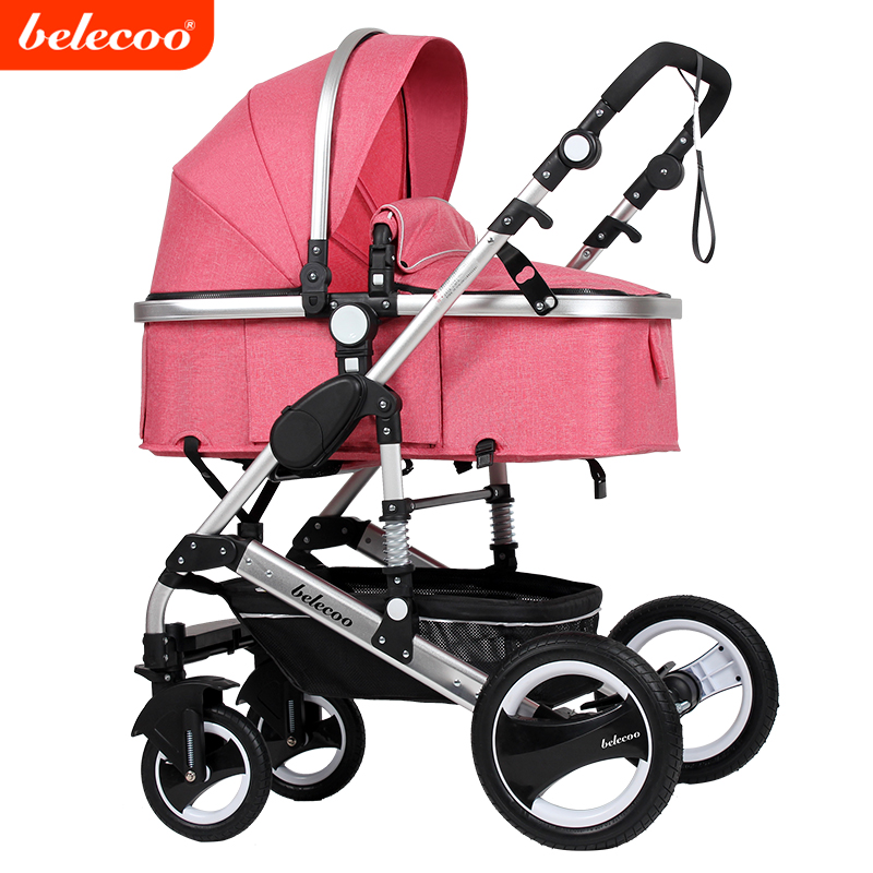 Cynebaby/Belecoo 2017 High Quality OEM 3 in 1 Baby Stroller Child Pram with EN1888