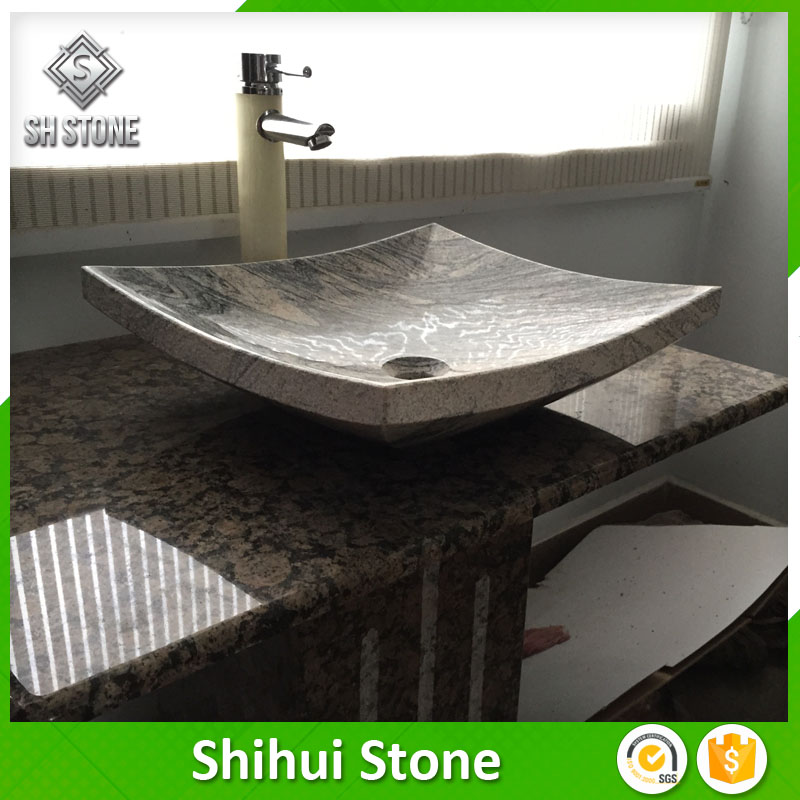 Polish Finished Bathroom Vanity Stone Sink With Factory Price