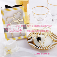 Cheers To A Great Combination Gold Wine Set Heart Bottle Stopper Wedding Wine Stopper