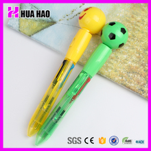 Hot selling stationery customized plastic pen with cartoon head promotional plastic pen