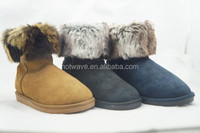 Wholesale low price fur foldable women warming winter boot