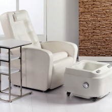 Latest foot massage sofa chair PVC leather pedicure chair with footbath
