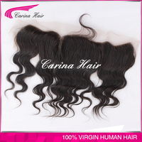 natural color hand made 7a grade full virgin silk top lace front closure piece