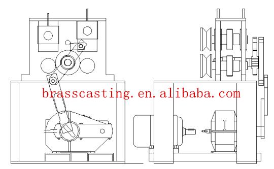 casting machine for brass /copper rod production line