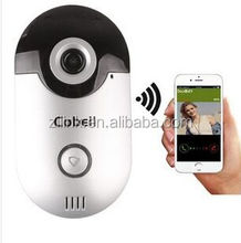 720P HD wireless wifi video doorbell for you to see visitors on your smartphones 3g wifi door bell