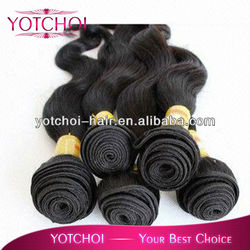hot sale brazilian human hair sew in weave body wave natural color