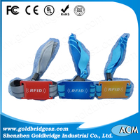 High Quality Fabric RFID Wristband Armbands with Transponder