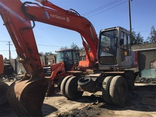 Japan Used Hitachi EX100WD Wheel Excavator For Sale